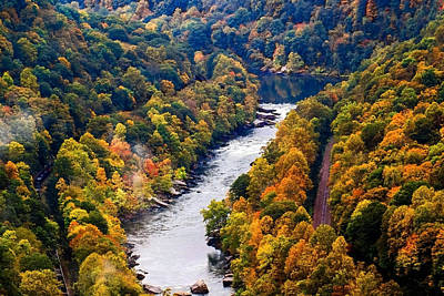 New River Gorge Art Print by B Wayne Mullins