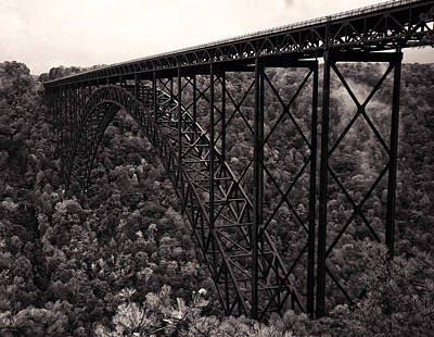 Digital Art - New River Gorge Bridge  by Chris Flees