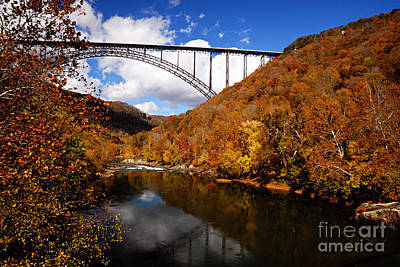 Photograph - New River Gorge Bridge In Autumn by Larry Ricker