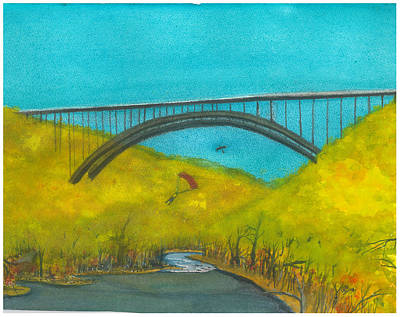 New River Gorge Bridge On Bridge Day Art Print