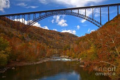 Photograph - New River Gorge Fiery Fall Colors by Adam Jewell