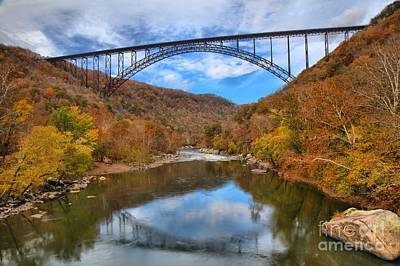 Fayetteville Photograph - New River Gorge Reflections by Adam Jewell