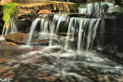 Photograph - New River Hidden Falls by Adam Jewell