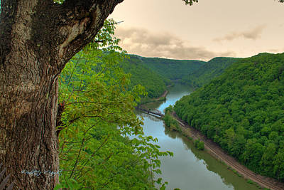 Almost Home Photograph - New River Railroad Bridge At Hawk's Nest  by Paulette B Wright