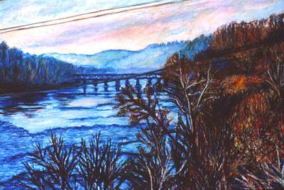 Painting - New River Trestle In Fall by Kendall Kessler