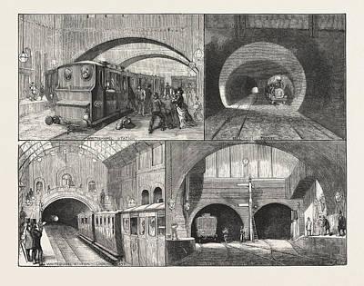 New Route To Brighton, Via The East London Railway Art Print by English School