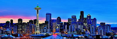 Skylines Royalty-Free and Rights-Managed Images - New Seattle Day by Benjamin Yeager