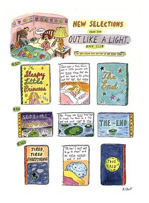 New Selections From The Out Like A Light� Book Art Print by Roz Chast