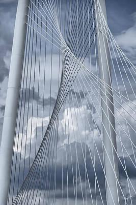 Landmarks Royalty Free Images - New Skyline Bridge Royalty-Free Image by Joan Carroll