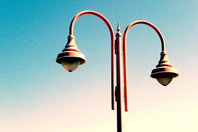 Beach Lamp Post Art Print by Valerie Reeves