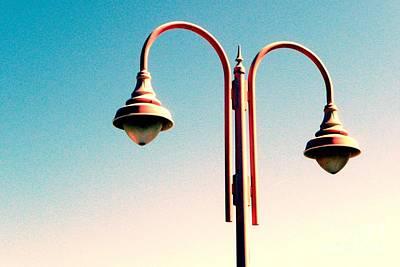 Beach Lamp Post Art Print