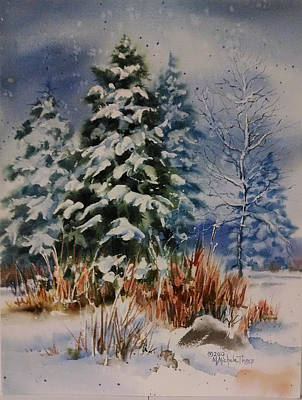 Sunriver Painting - New Snow At Sunriver by Michele Thorp