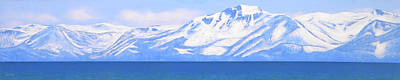 Snowscape Painting - New Snow Lake Tahoe by Frank Wilson