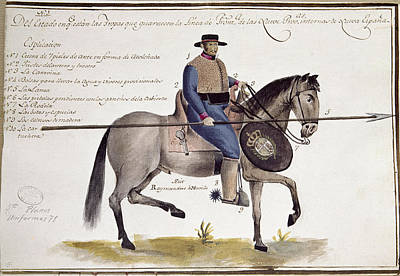 Drawing - New Spain Cavalry Uniform by Granger