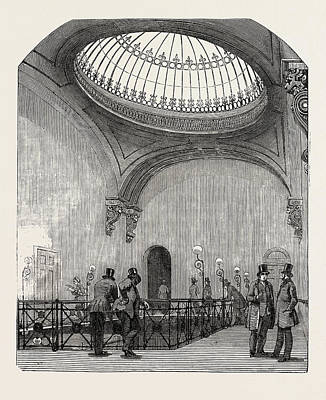 Office Space Drawing - New Station Of The London And North-western Railway by English School