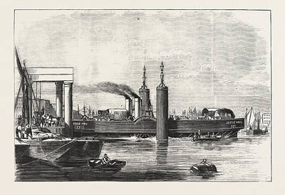 New Steam Ferry-boat For The Thames, The Jessie May Art Print by English School