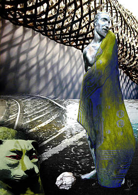 Digital Art - New String Theory by Maria Jesus Hernandez