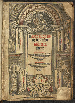 Testament Photograph - New Testament Title Page by British Library