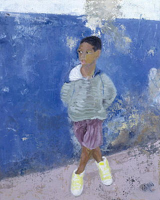 Contemplate Painting - New Trainers Havana Cuba by Kate Yates