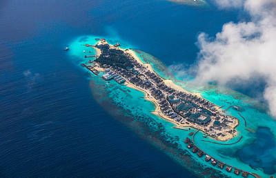 Photograph - New Upcoming Resort 1.  Aerial Journey Over Maldives by Jenny Rainbow