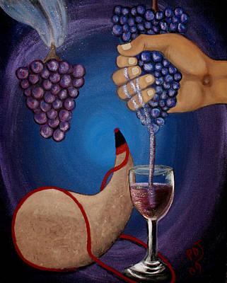 New Wine Art Print by Pamorama Jones