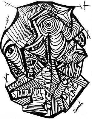 Antennae Drawing - New World Order by Sarah Loft