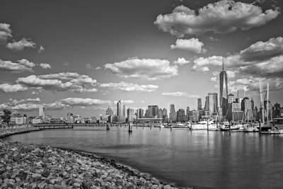 Freedom Tower Photograph - New World Trade Center Bw by Susan Candelario