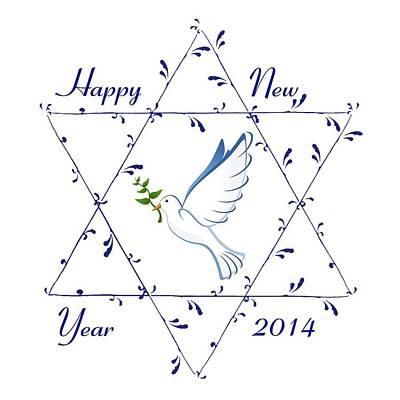 New Year Dove Original