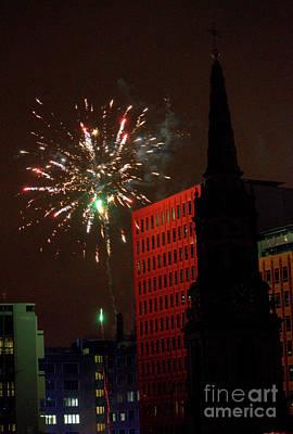 Photograph - New Year Fireworks London 2012 by Deborah Smolinske
