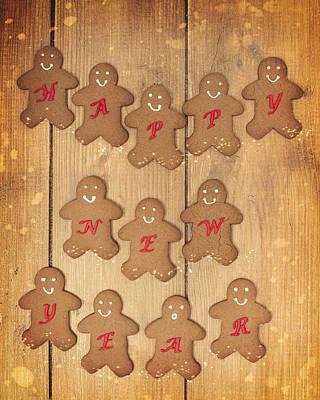 New Year Gingerbread Art Print