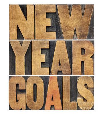 Art Print featuring the photograph New Year Goals by Marek Uliasz