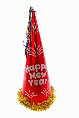 Happy New Year Party Hat Art Print