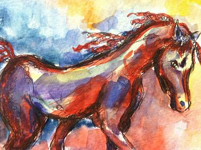 New Year Horse Art Print