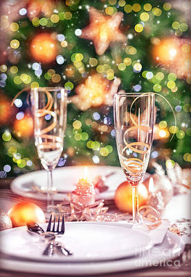 Banquet Photograph - New Year Table Setting by Anna Om