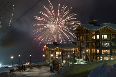 New Years At Big White Original by Jenn Chan