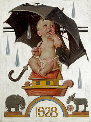 1928 Painting - New Year's Baby by Joseph Christian Leyendecker