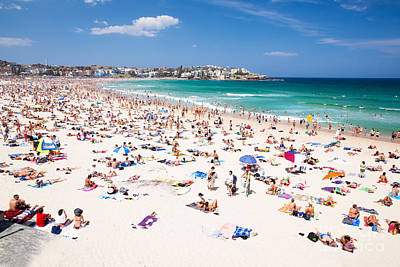 People Photograph - New Year's Day At Bondi Beach Sydney Australi by Matteo Colombo