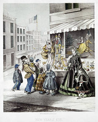 New Year's Eve, 1865 Print by Granger