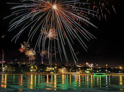 Eve Photograph - New Years Eve Fireworks Are Legal by Panoramic Images