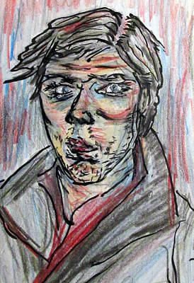 Drawing - New Years Self Portrait by Denny Morreale