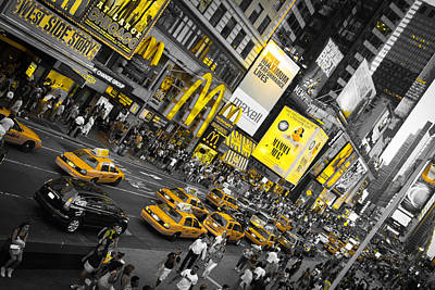 Amador Photograph - New York - Yellow Times Square by Amador Esquiu Marques
