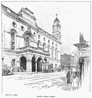 Stanford Drawing - New York, 1894 by Granger