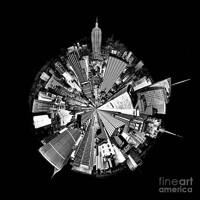 New York 2 Circagraph Art Print by Az Jackson