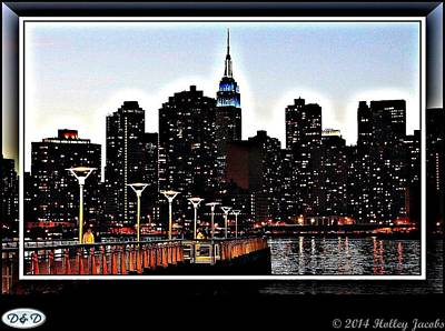 Digital Art - New York 2 by Holley Jacobs