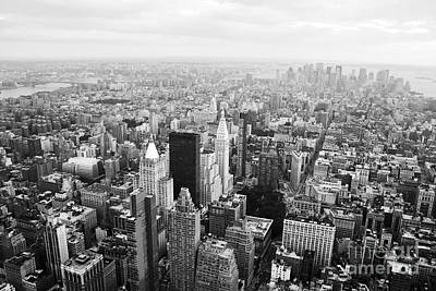 Empire State Photograph - New York Skyline From The Empire State by David Gardener