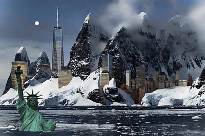 Chemtrails Digital Art - New York 3012 by Daniel Hagerman