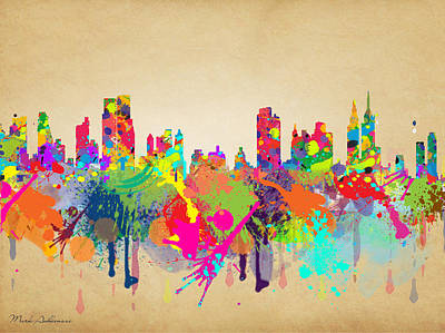 San Francisco Landmarks Digital Art - New York 5 by Mark Ashkenazi