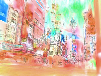 New York Abstract Art Print by Tom Gowanlock