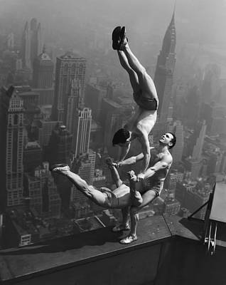 Threesome Photograph - New York Acrobats by Daniel Hagerman