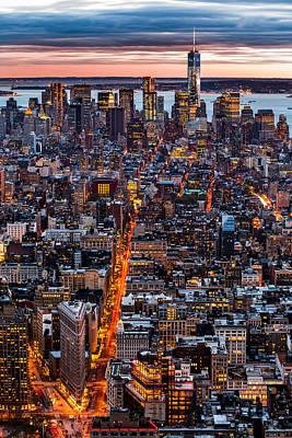 New York Aerial Cityscape Art Print by Mihai Andritoiu